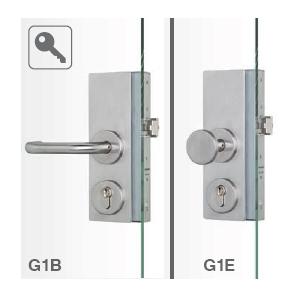 G1B Mechanisches Ganzglastürschloss mit Panikfunktion  B