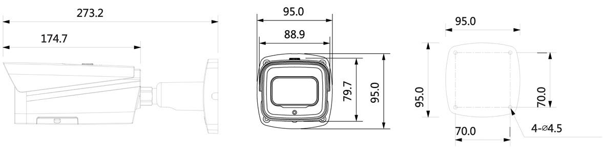 LKE5403T 4 MP CMOS Sensor, Auflösung bis 2688 x 1520 px