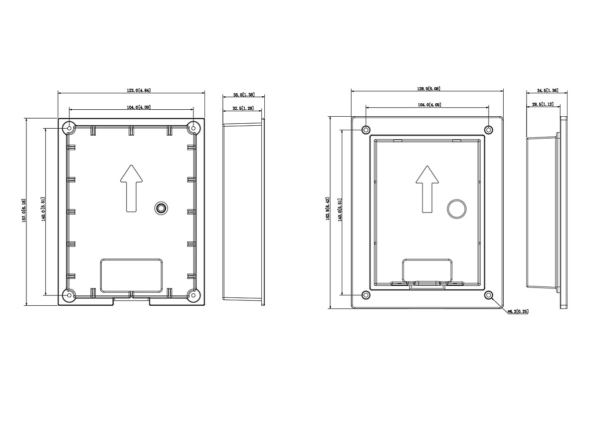 LRA5701-UP Einbaurahmen Unterputz