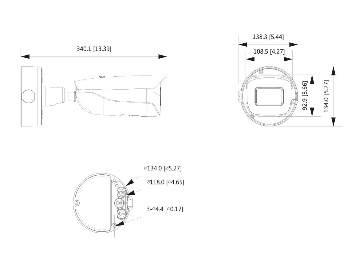 LKM5803 8 MP CMOS Sensor, f=2,7~12 mm / Autofokus