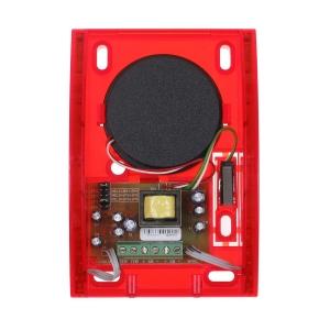SPW220R Sirene mit Blitzlicht in Rot